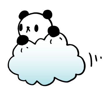 PANDY THE PANDA LINE STICKER