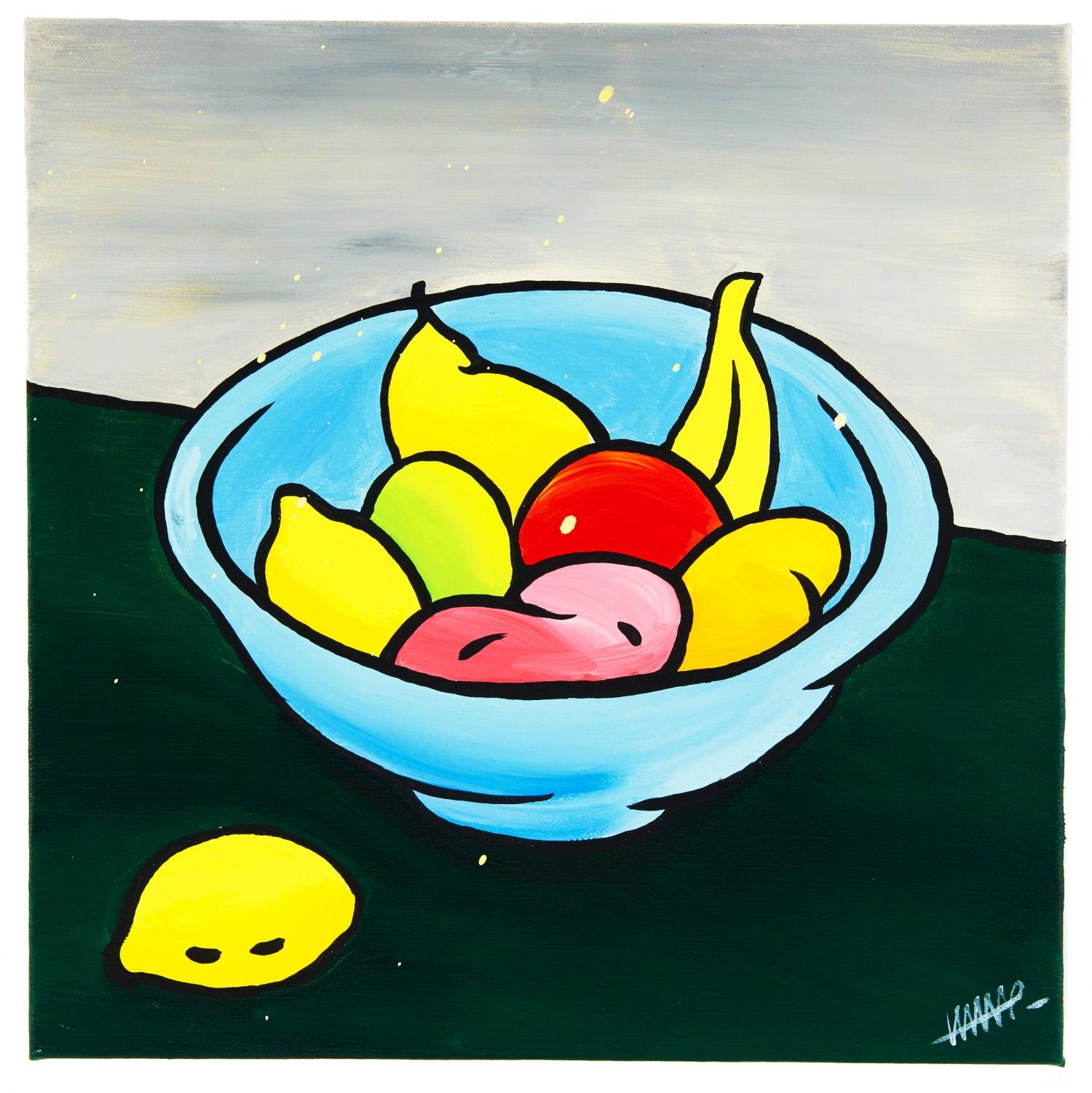 Fruit bawl with splash Vanitas