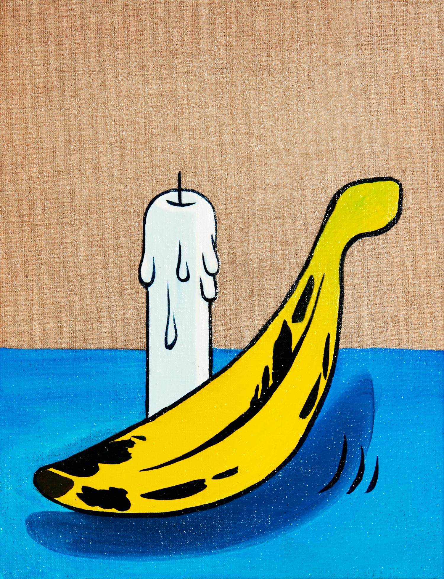 A banana & a candle