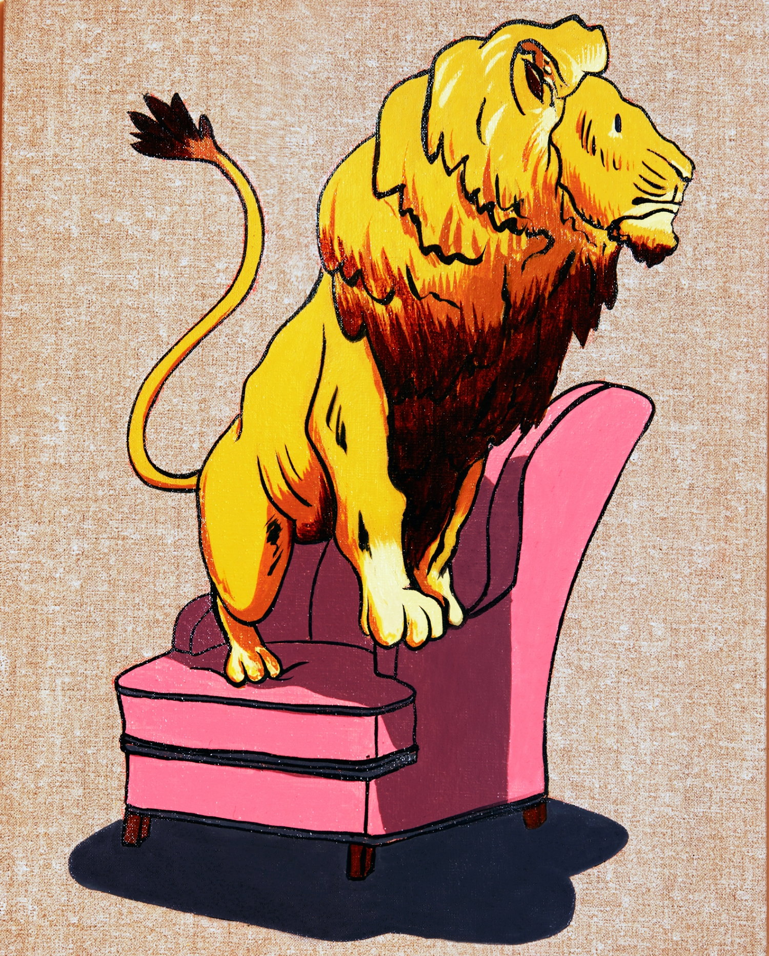 Lion on the chair