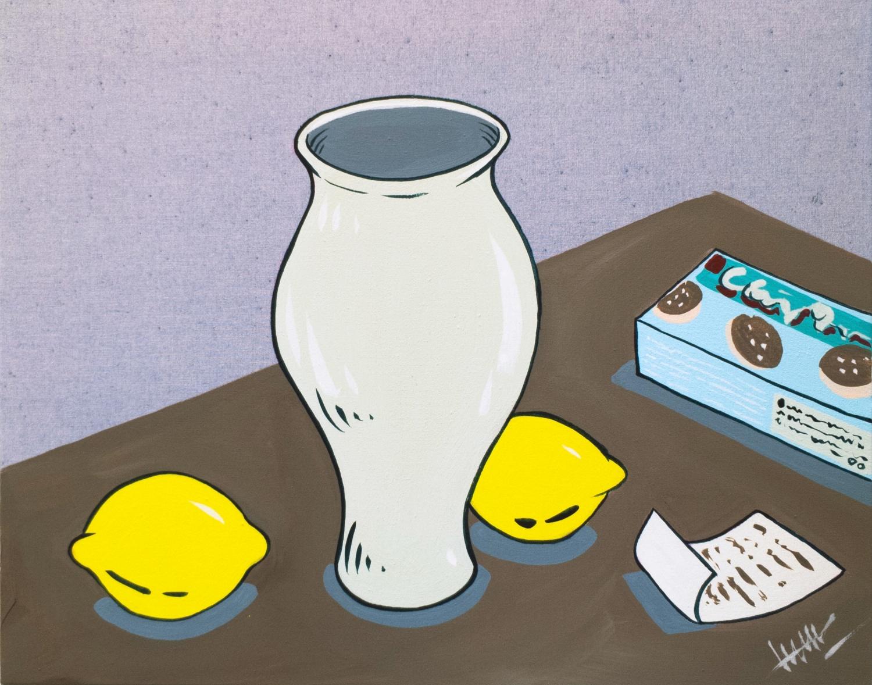 jar, lemons, cookie box & receipt