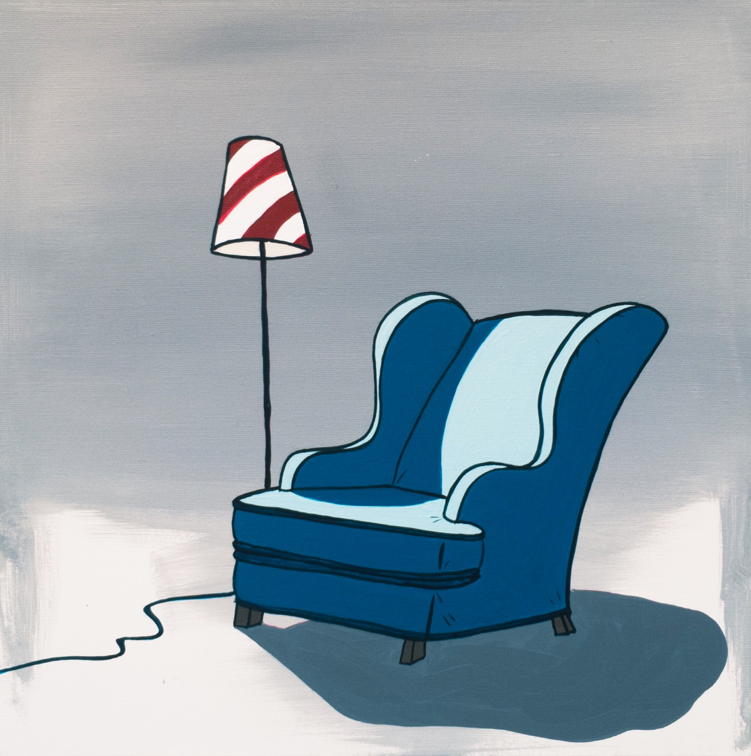 Lamp & a couch